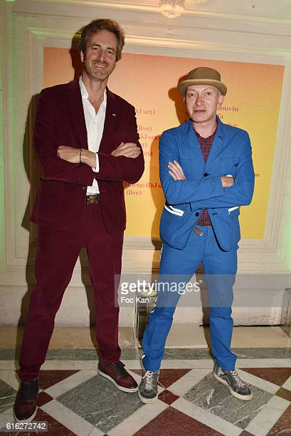 Frederic Jousset chairman of Beaux Arts and editor Fabrice Bousteau attend 'Le Bal Jaune 2016' Dinner Party At Hotel Salomon de Rothschild As part of...