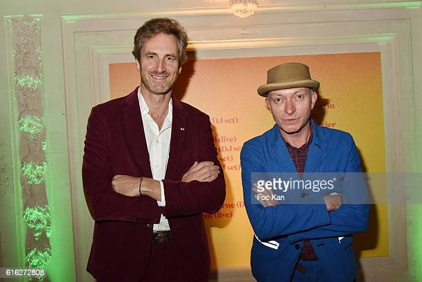 Frederic Jousset chairman of Beaux Arts magazine and editor Fabrice Bousteau attend 'Le Bal Jaune 2016' Dinner Party At Hotel Salomon de Rothschild...