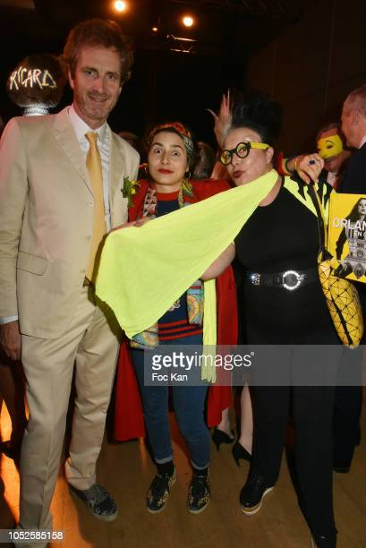Frederic Jousset Prune Nourry and Orlan attend 'Le Bal Jaune 2018' 20th Anniversary at Hotel Salomon de Rothschild on October 19 2018 in Paris France
