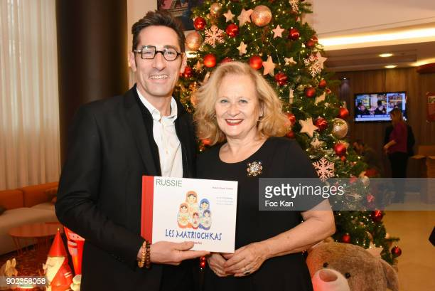 Frederic Julien Design and Katia Tchenko attend 'Heros en Mer' ÊPatrick and Olivier Poivre d'Arvor Book Signing at Hotel Courtyard Mariott Boulogne...