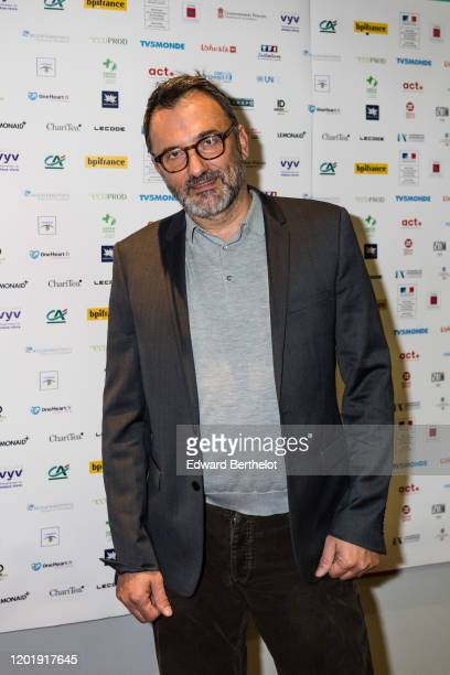 Frederic Lopez French TV host attends the Le temps Presse Festival Closing Ceremony photocall At UGC LyonBastille In Paris on January 24 2020 in...