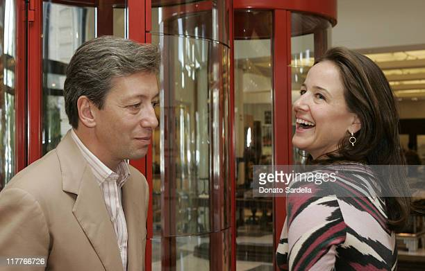 Frederic Malle and Elizabeth Wiatt during Frederic Malle Fragrance Launch Breakfast at Barneys New York in Beverly Hills at Barney's Greengrass in...
