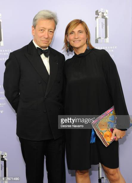 Frederic Malle and Marie Malle attend 2018 Fragrance Foundation Awards at Alice Tully Hall at Lincoln Center on June 12 2018 in New York City