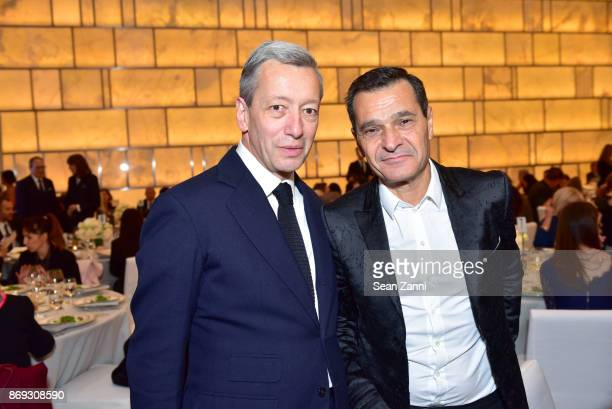 Frederic Malle and Philippe Benacin attend the Circle of Champions 2017 at New York Park Hyatt on November 1 2017 in New York City