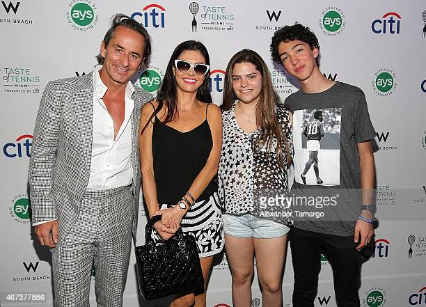 Frederic Marq Adriana de Moura and guests attend Taste Of Tennis Miami Presented By Citi at W South Beach on March 23 2015 in Miami Beach Florida