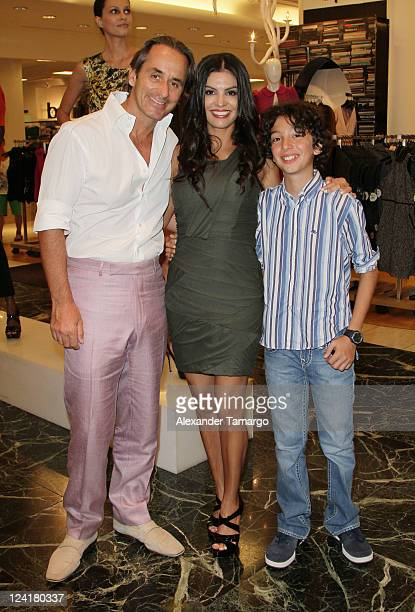 Frederic Marq Adriana De Moura and son attend Fashion's Night Out celebration at Macy's Aventura on September 8 2011 in North Miami Florida