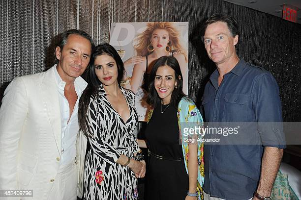 Frederic Marq Adriana de Moura Dina Silver and Paul Turcotte attend The Daily Swim 10 Year Anniversary party presented by Evian at Shore Club on July...