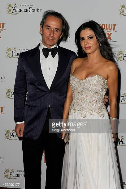 Frederic Marq and Adriana De Moura attend 1826 Restaurant Lounge Grand Opening on March 15 2014 in Miami Beach Florida
