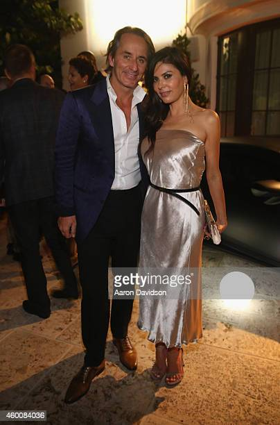 Frederic Marq and Adriana de Moura attend Haute Living 10th Year Anniversary Party on December 6 2014 in Miami Florida