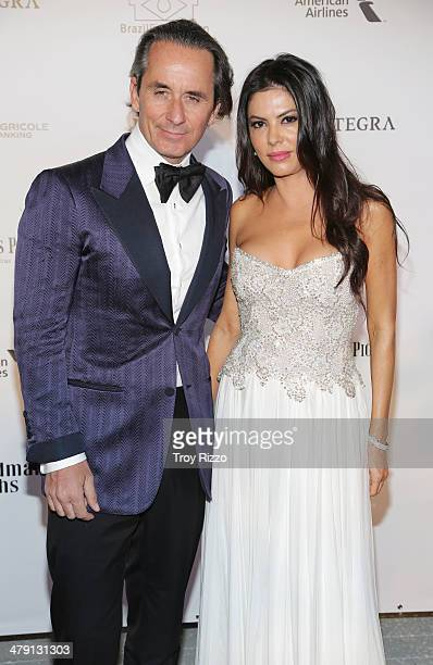 Frederic Marq and Adriana De Moura attend the BrazilFoundation Gala at Perez Art Museum Miami on March 15 2014 in Miami Florida