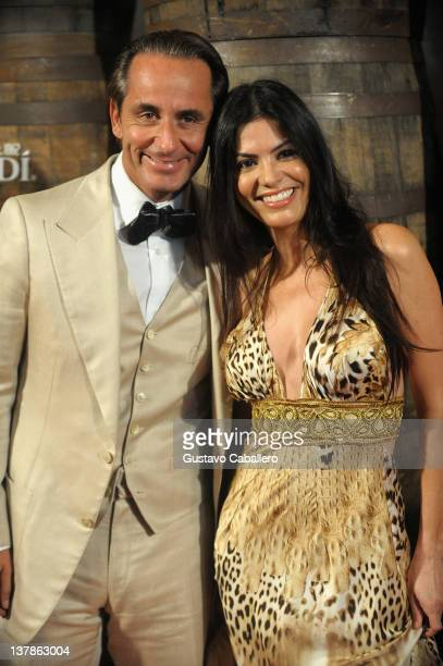 Frederic Marq and Adriana De Moura attends the Bacardi 150th Anniversary Celebration on January 28 2012 in Miami Florida