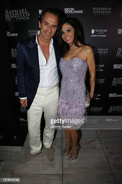 Frederic Marq and tv personality Adriana De Moura attend The 66th Parallel the latest collection from Raphael Mazzucco at The St Regis Bal Harbour on...