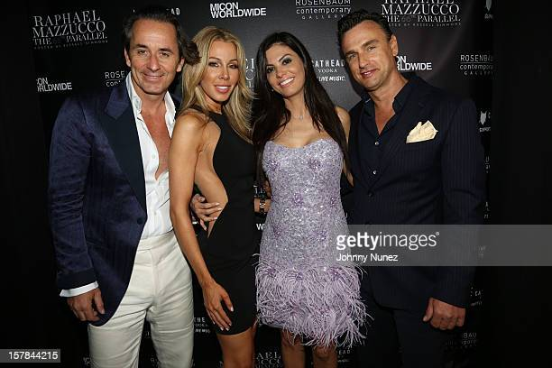Frederic Marq Lisa Hochstein Adriana De Moura and Johnathan Yaskoff attend The 66th Parallel the latest collection from Raphael Mazzucco at The St...