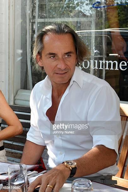 Frederic Marq visits Pierre's on August 9 2014 in Bridgehampton New York