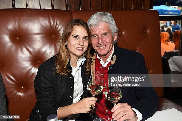 Frederic Meisner and his daughter Jennifer Meisner attend 9 Years Anniversary Bachmaier Hofbraeu at Bachmaier Hofbraeu on May 10 2014 in Munich...