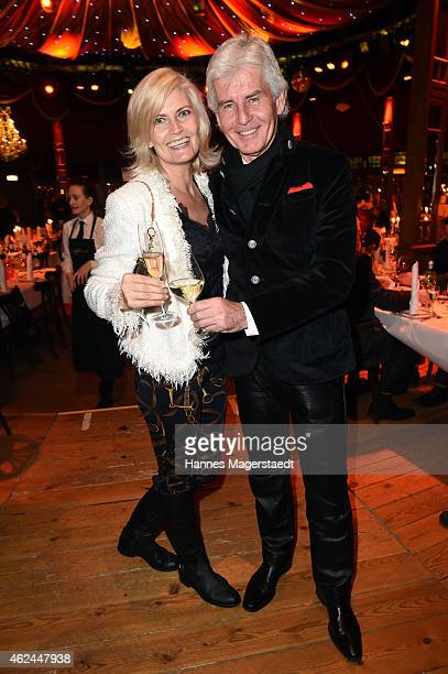 Frederic Meisner and his wife Ivonne attend 'Radio Gong 963 Celebrates 30th Anniversary' at Schuhbecks Teatro on January 28 2015 in Munich Germany