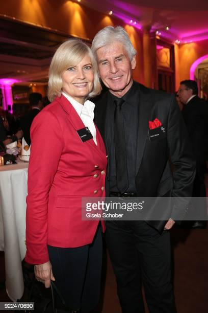 Frederic Meisner and his wife Yvonne Meisner during the 15th Best Brands Award 2018 on February 21 2018 at Hotel Bayerischer Hof in Munich Germany