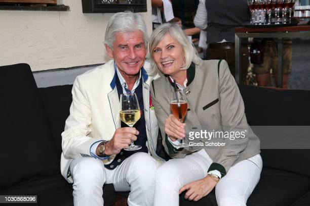 Frederic Meisner and his wife Yvonne Meisner during the Munich CONNEXxxions and Connections PR summer party at Steirer am Markt on September 10 2018...