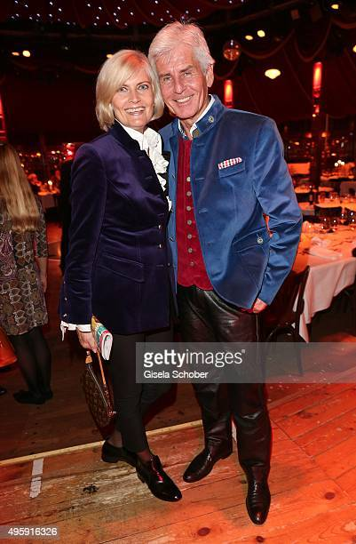 Frederic Meisner and his wife Yvonne Meisner during the VIP premiere of Schubecks Teatro's program 'Herzstuecke' at Spiegelzelt on November 5 2015 in...