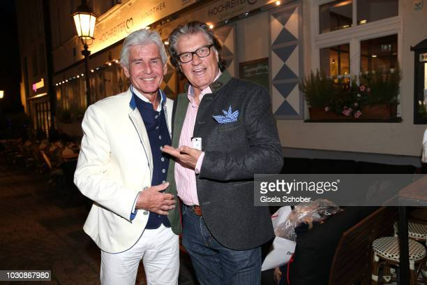 Frederic Meisner and Michael Hartl during the Munich CONNEXxxions and Connections PR summer party at Steirer am Markt on September 10 2018 in Munich...