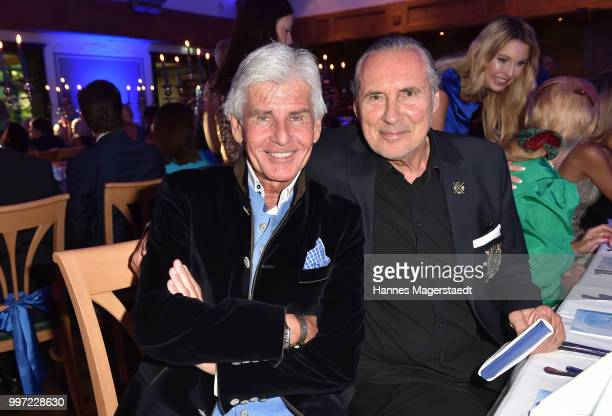 Frederic Meisner and Peter Bond during the dinner Royal at the Gruenwalder Einkehr on July 12 2018 in Munich Germany