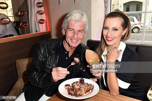 Frederic Meisner and Verena Kerth attend the 'El Gaucho' Restaurant Opening on September 5 2014 in Munich Germany