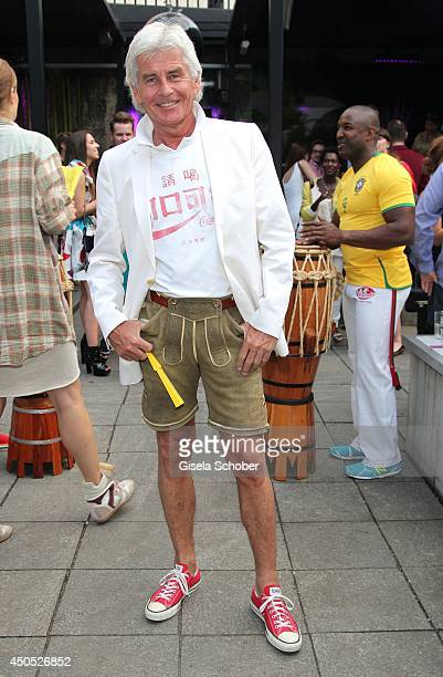 Frederic Meisner attends the Iracema Scharf Beachwear Fashion Show at P1 on June 12 2014 in Munich Germany Inspired by the FIFA World Cup 2014 in...