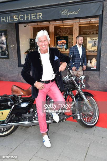 Frederic Meisner attends the launch event for watchmaking company NOMOS Glashuette at Juweler Hilscher on June 19 2018 in Munich Germany