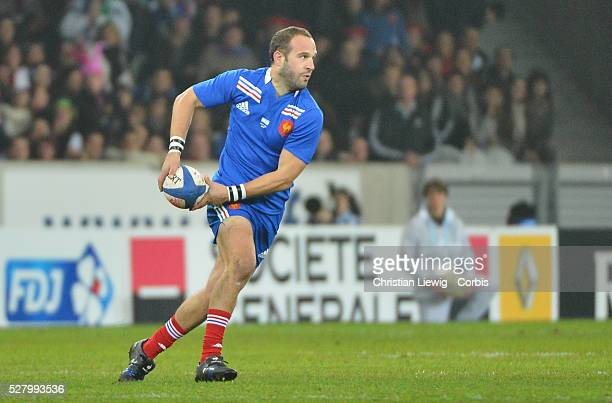 FRANCE Frederic Michalack Villeneuved'Ascq France's during the rugby union test match France vs Argentina at Lille Grand Stade on November 17 2012 in...