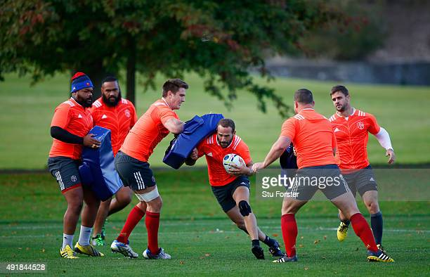 Frederic Michalak of France in action during France training at the Hensol Castle grounds on October 8 2015 in Cardiff Wales