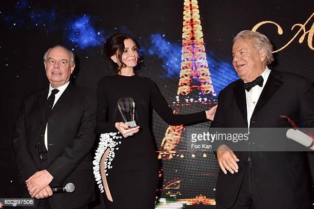 Frederic Mitterrand Lola KarimovaTillyaeva and Massimo GargiaÊand Pamela Anderson attend 'The Best Award Gala 40th Edition' at Four Seasons George V...