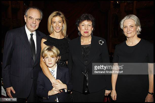 Frederic Mitterrand Madame Brice Hortefeux and son Amaury Roselyne Bachelot Narquin Madame Francois Fillon at The Gala Evening Celebrating The 35th...