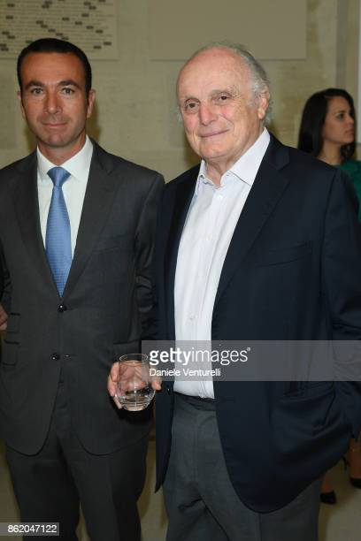 Frederic Nizard and David Nahmad attend a cocktail in honour of Diana Widmaier Picasso and Alexander SC Rower awarded with the Chevalier and Officier...
