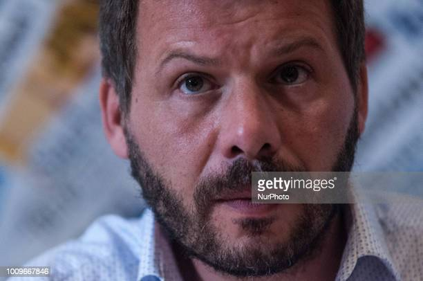 Frederic Penard during the press conference of SOS Mediteranee in Rome Italy on August 2 2018