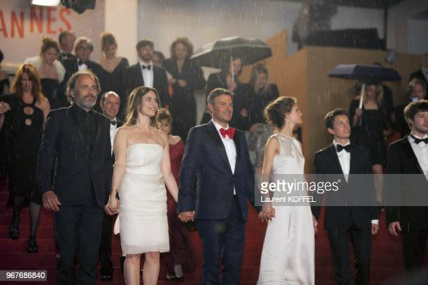 Frederic Pierrot Geraldine Pailhas director Francois Ozon Marine Vacth and Fantin Ravat attend the 'Jeune Jolie' premiere during The 66th Annual...