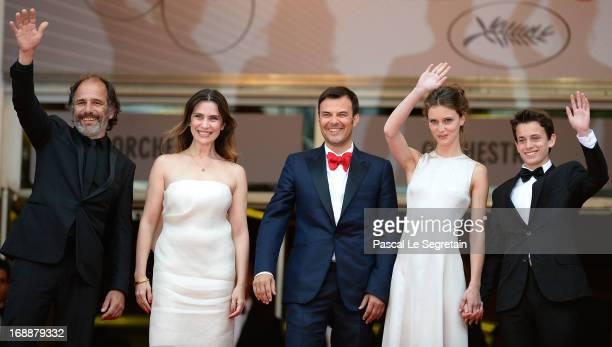 Frederic Pierrot Geraldine Pailhas Francois Ozon Marine Vacth and Fantin Ravat attend the 'Jeune Jolie' premiere during The 66th Annual Cannes Film...