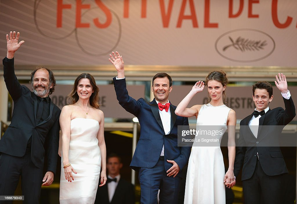 Frederic Pierrot, Geraldine Pailhas, Francois Ozon, Marine Vacth and Fantin Ravat attend the 'Jeune & Jolie' premiere during The 66th Annual Cannes Film Festival at the Palais des Festivals on May 16, 2013 in Cannes, France.
