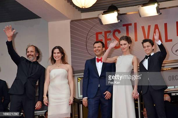 LR Frederic Pierrot Geraldine PailhasFrancois Ozon Marine Vacth Fantin Ravat attend Coppola attend the Premiere of 'Jeune Jolie' at The 66th Annual...