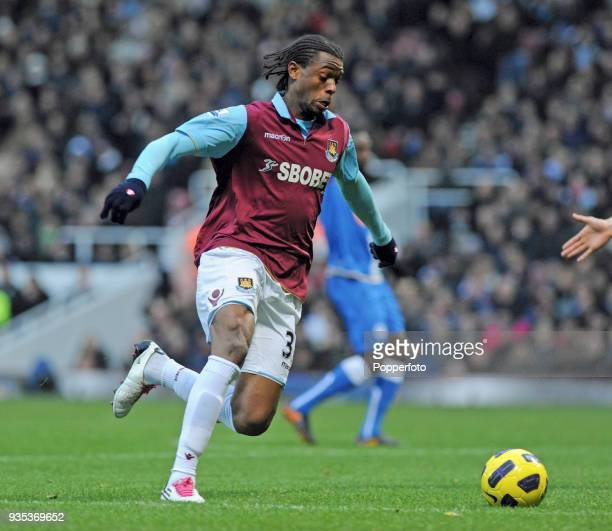Frederic Piquionne of West Ham United in action during the Barclays Premier League match between West Ham United and Wigan Athletic at Boleyn Ground...