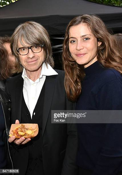 Frederic Rebet from Les maitres du Silence and Marie Camille Denjean present French Fries by Chef Xavier Thiery fof the Edgar Restaurant during the...