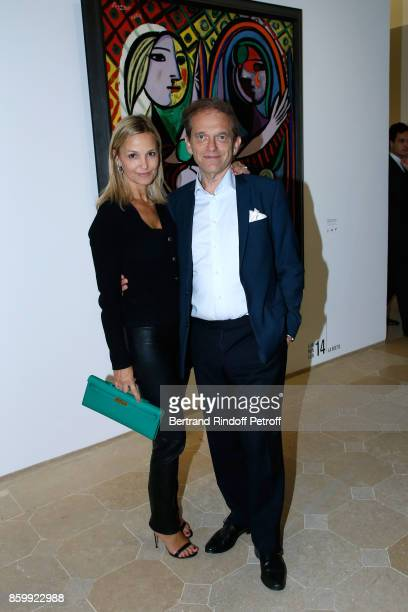Frederic Saldmann and his wife Marie Saldmann attend the 'Picasso 1932' Exhibition Opening at Musee national PicassoParis on October 10 2017 in Paris...