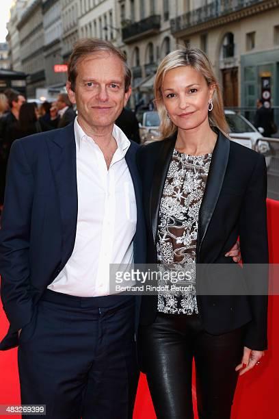 Frederic Saldmann and Marie Saldmann attend the 'Barbecue' Premiere at Cinema Gaumont Capucine on April 7 2014 in Paris France