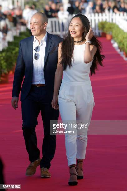 Frederic Siuen Xin Wang attend red carpet of 3rd day of the 31st Cabourg Film Festival on June 16 2017 in Cabourg France