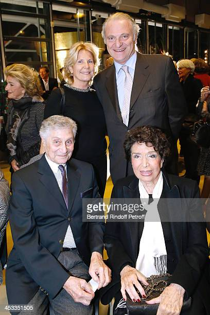 Frederic Stern Miss JeanMarc Vernes publisher Alain Flammarion and his wife Suzanna attend the Tribute to Alfred Pacquement Director of the Centre...