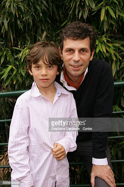 Frederic Taddei with his son Diego at Roland Garros Village