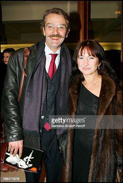 """Frederic Thiriez and his wife at 11th Gala """"Musique Contre L'Oubli"""" In Benefit of Amnesty International."""
