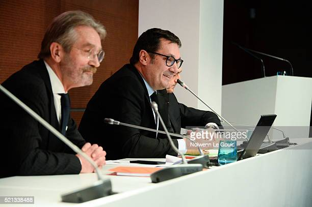 Frederic Thiriez President of Football French League announces his resignation and Didier Quillot executive general manager of Football French League...