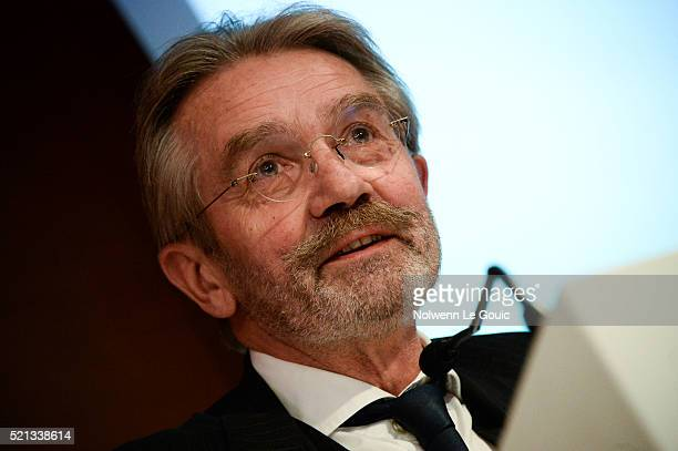Frederic Thiriez President of Football French League announces his resignation during the General Meeting of the Football French League at French...