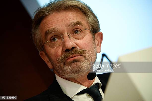 Frederic Thiriez president of LFP announces his resignation during the General Meeting of the Football French League at French Football Federation on...