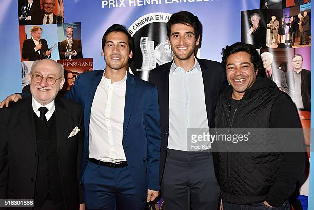 Frederic Vidal from Prix Henri Langlois director/actor Jordan Goldnadel producers Alexandre Malem and Loic Magneron attend '10eme Rencontres...